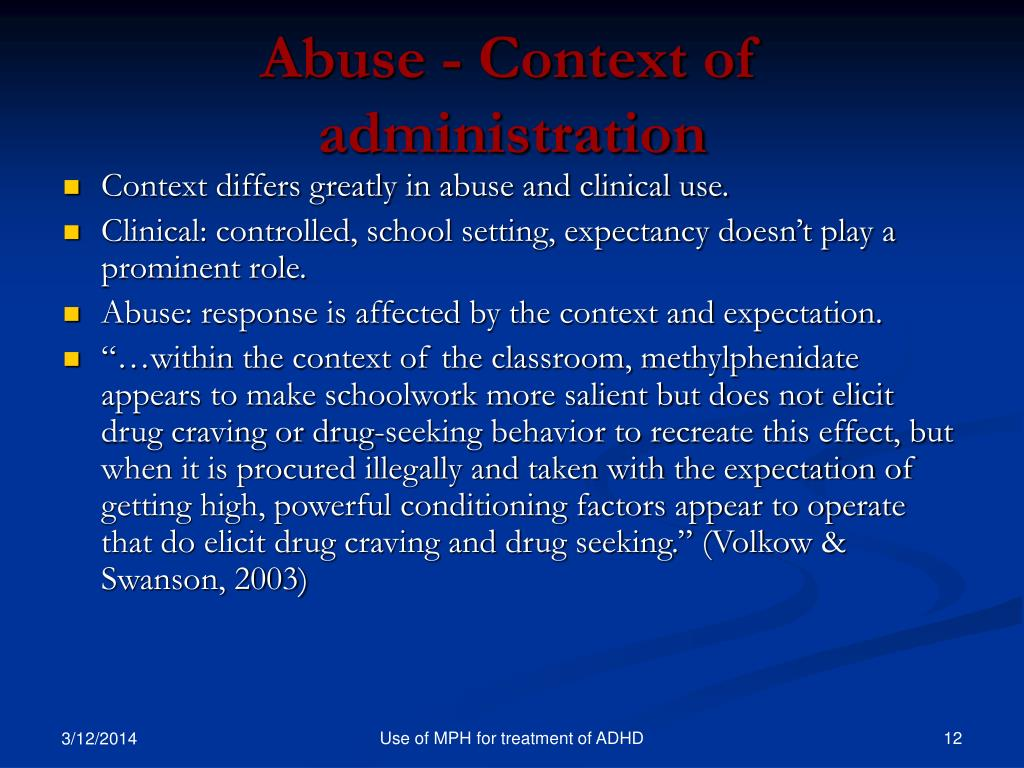 Abuse - Context of