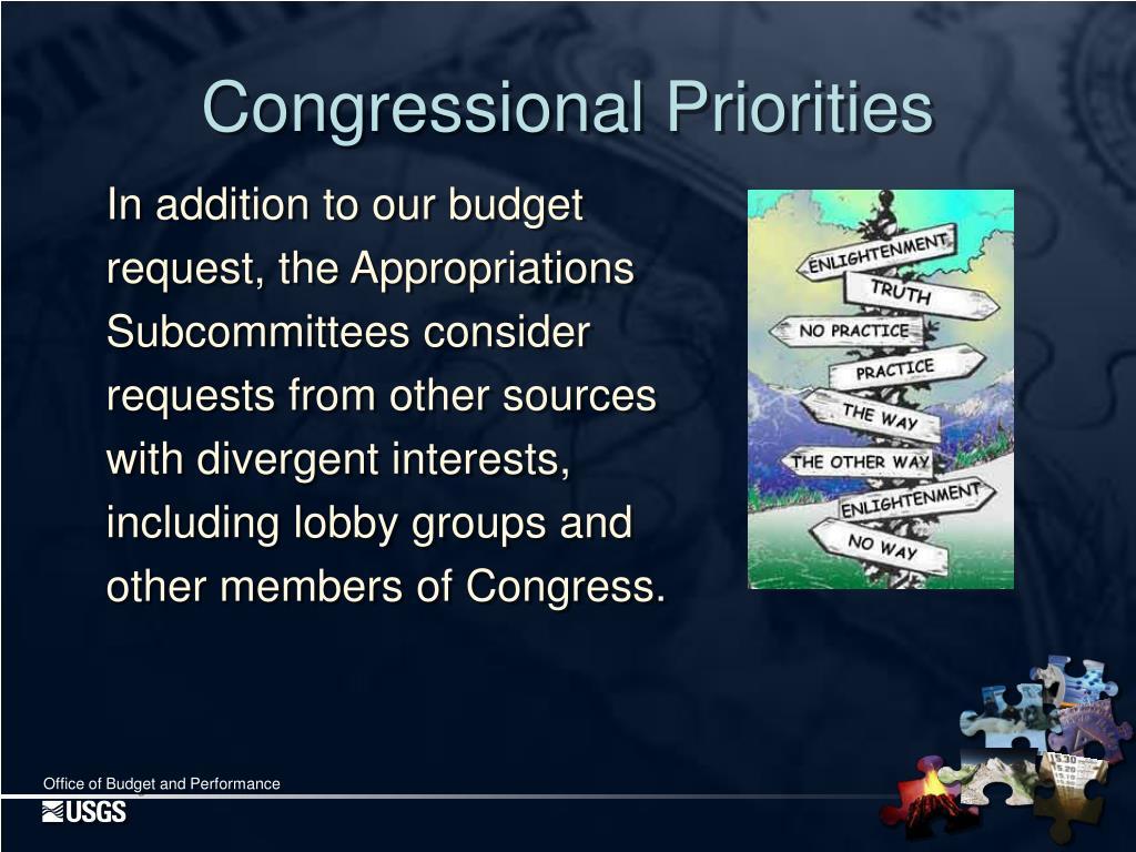 Congressional Priorities