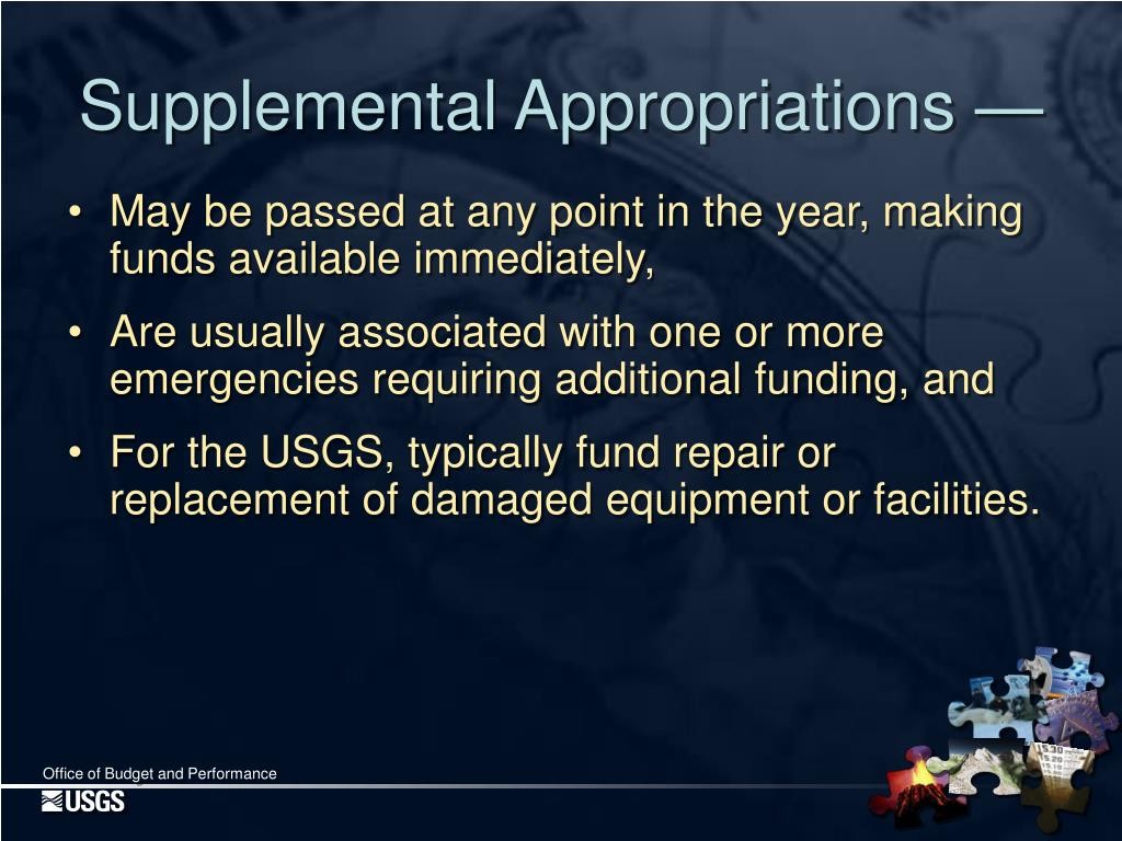 Supplemental Appropriations