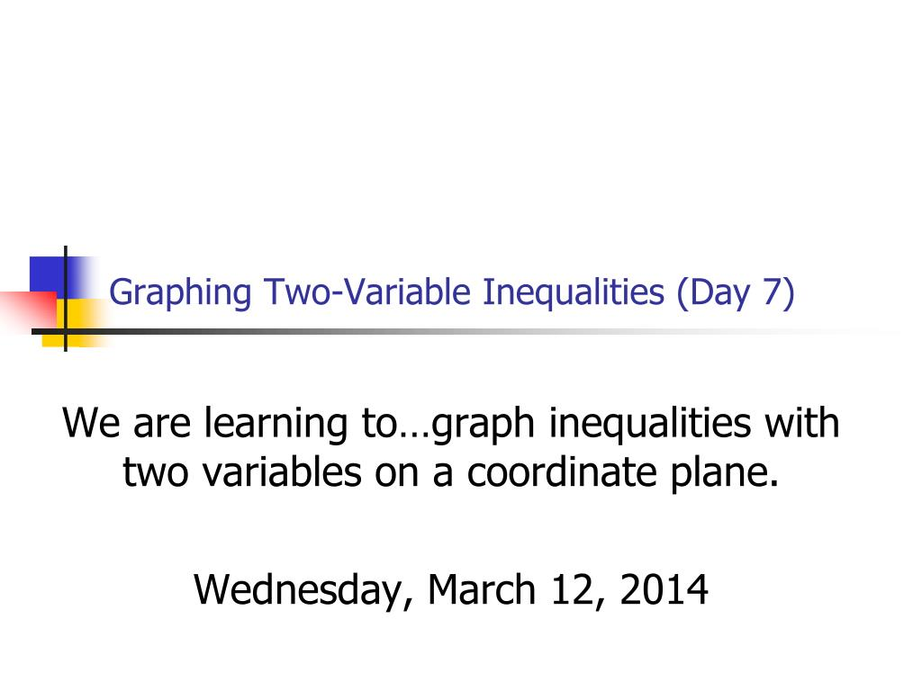 graphing two variable inequalities day 7 l.