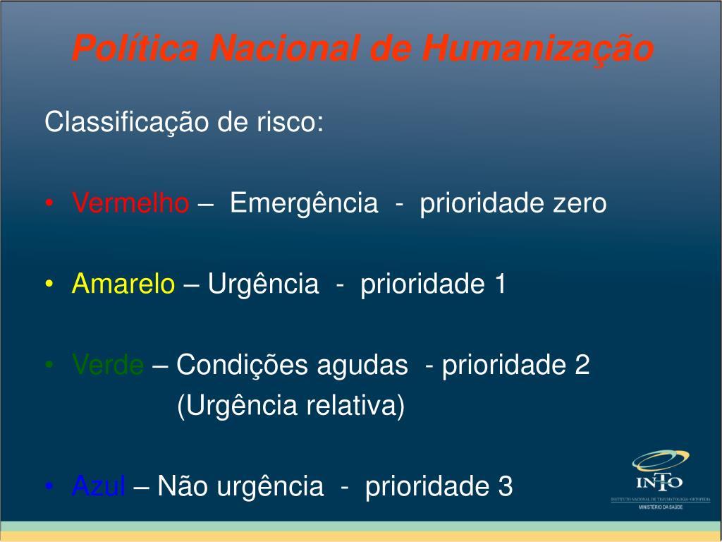 Classificação de risco: