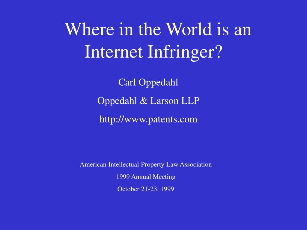 where in the world is an internet infringer l.