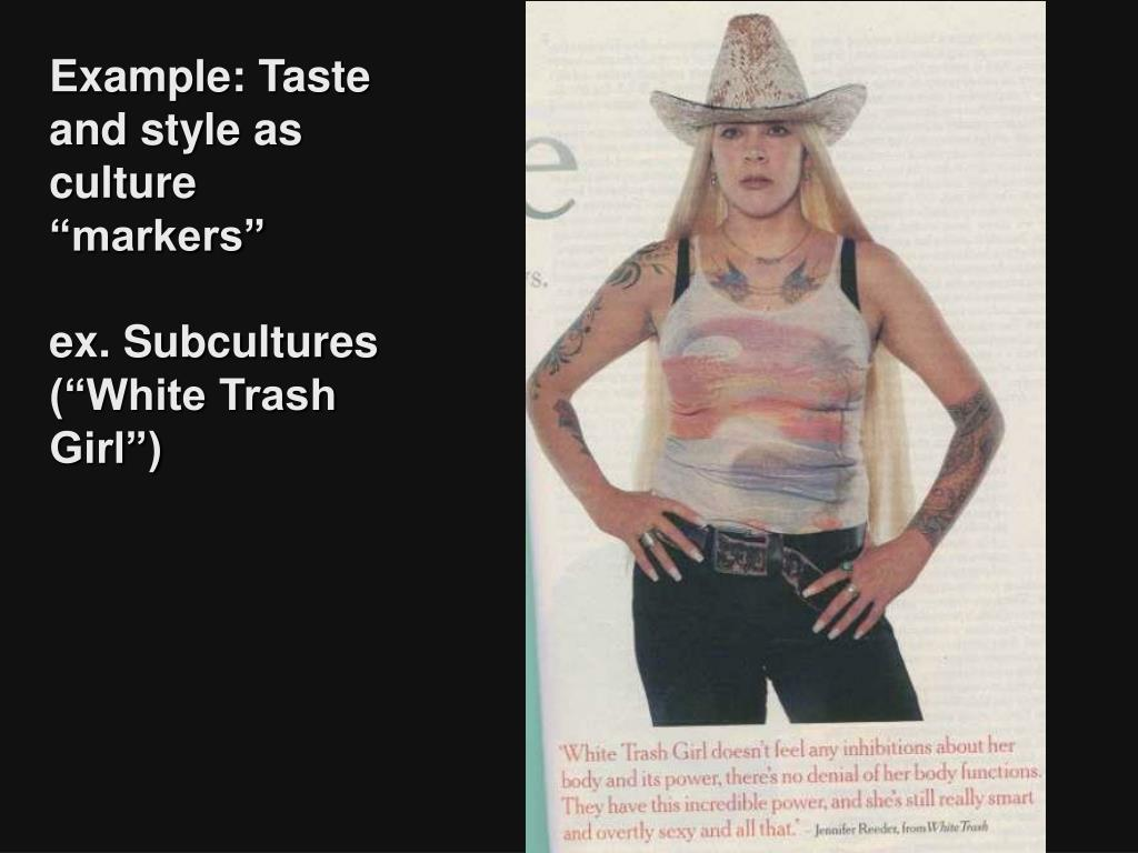 "Example: Taste and style as culture ""markers"""