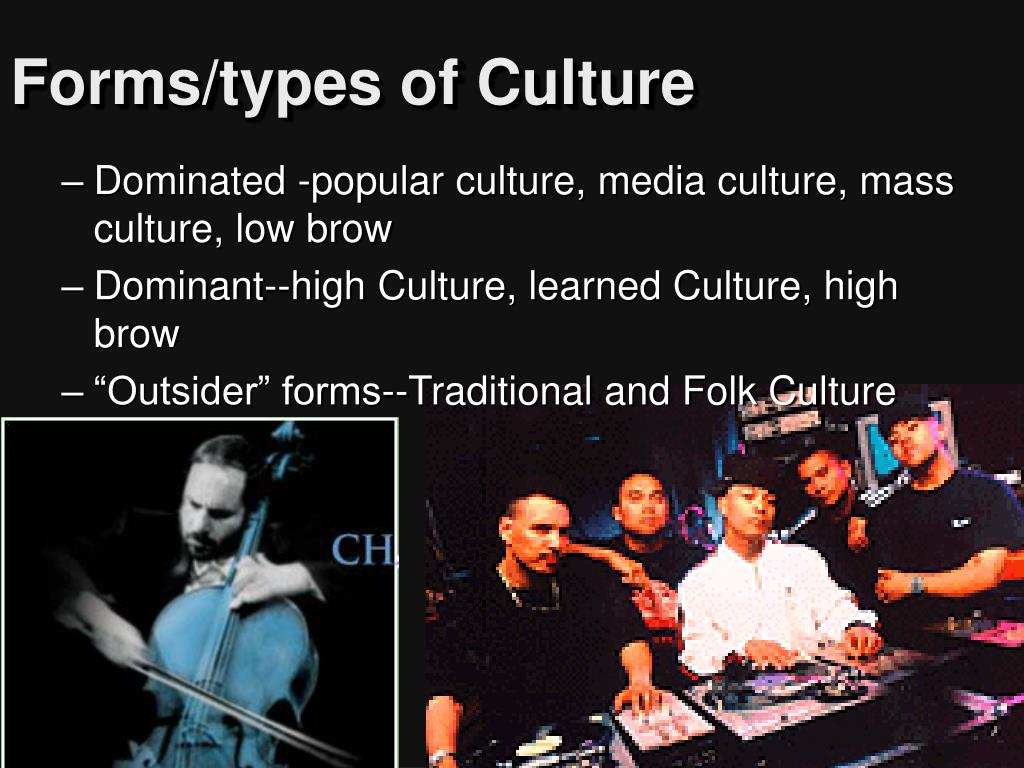 Forms/types of Culture