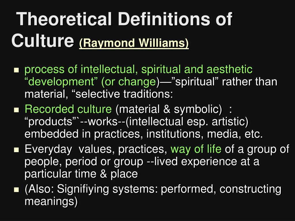 Theoretical Definitions of Culture
