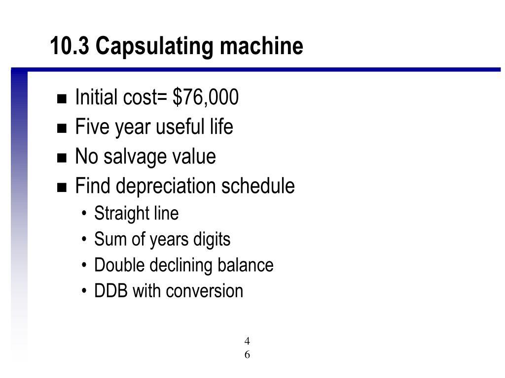 10.3 Capsulating machine