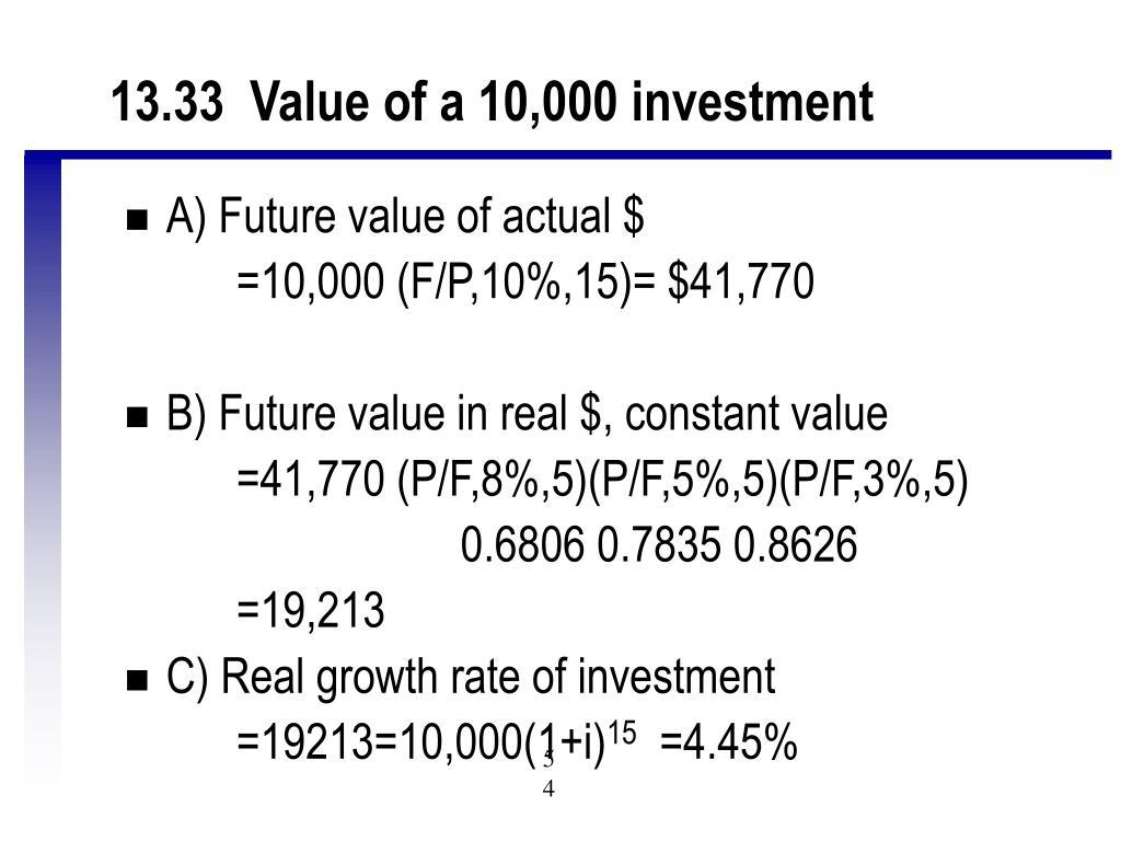 13.33  Value of a 10,000 investment