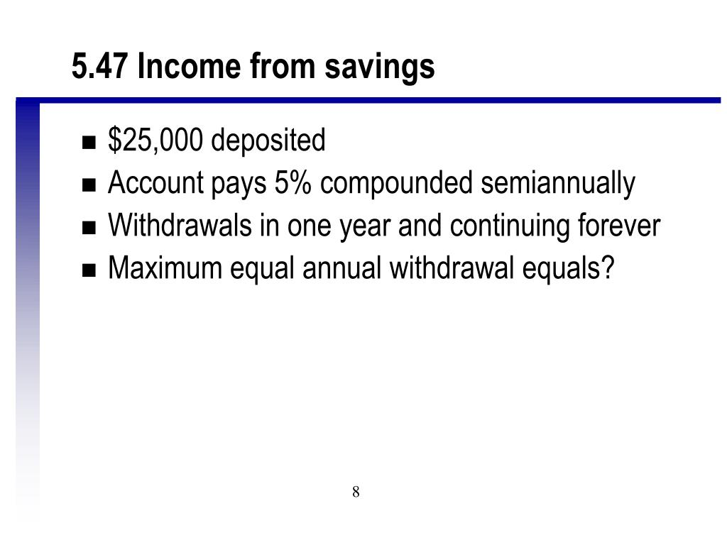 5.47 Income from savings