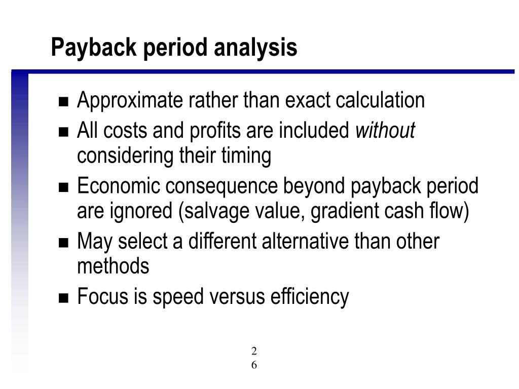 Payback period analysis