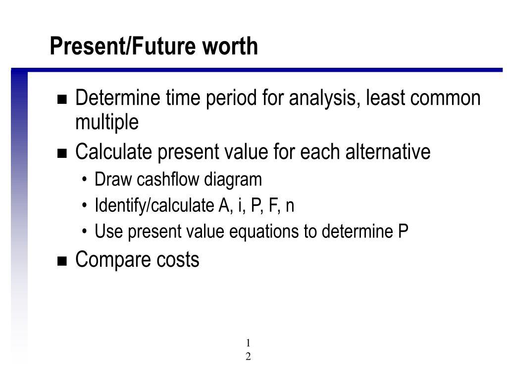 Present/Future worth