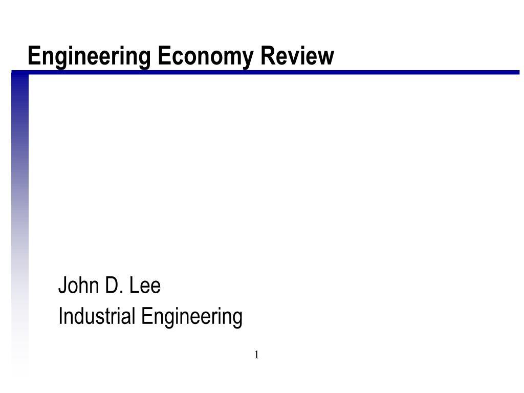 Engineering Economy Review