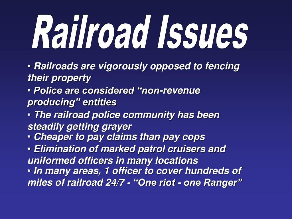 Railroad Issues