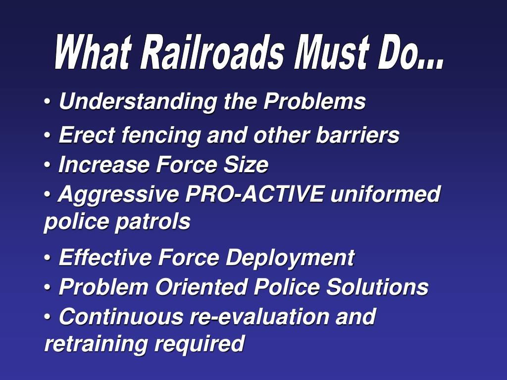 What Railroads Must Do...