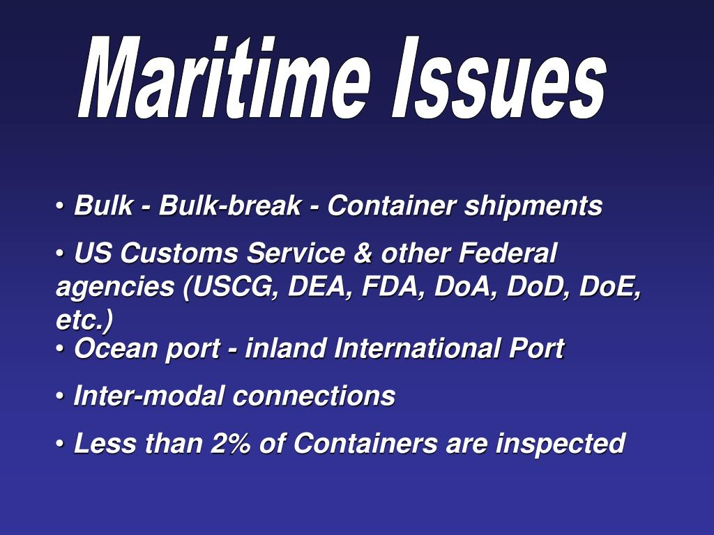 Maritime Issues