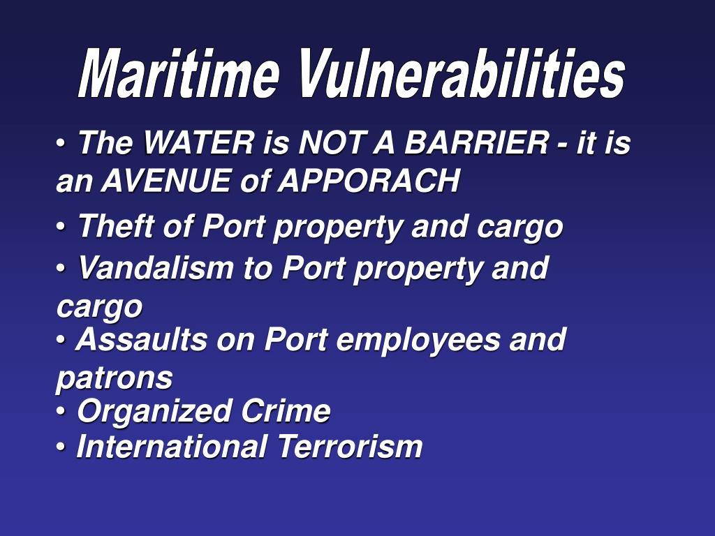 Maritime Vulnerabilities