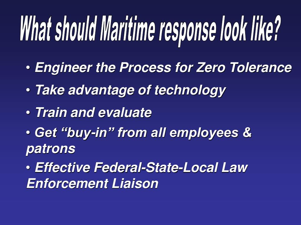 What should Maritime response look like?