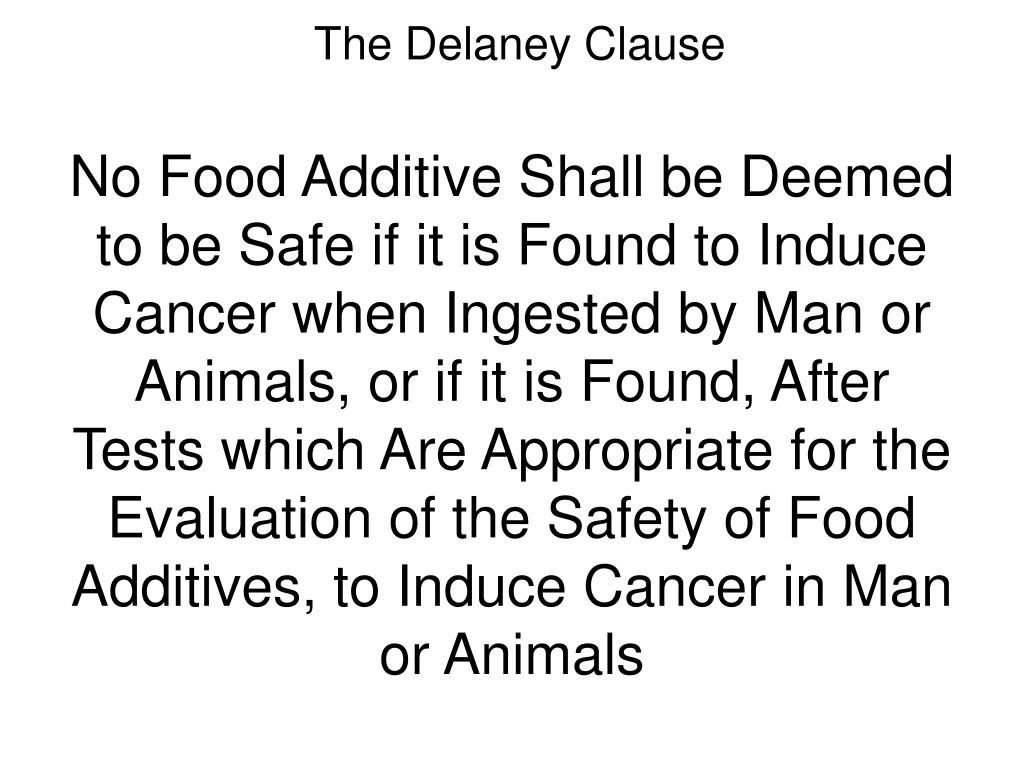 The Delaney Clause