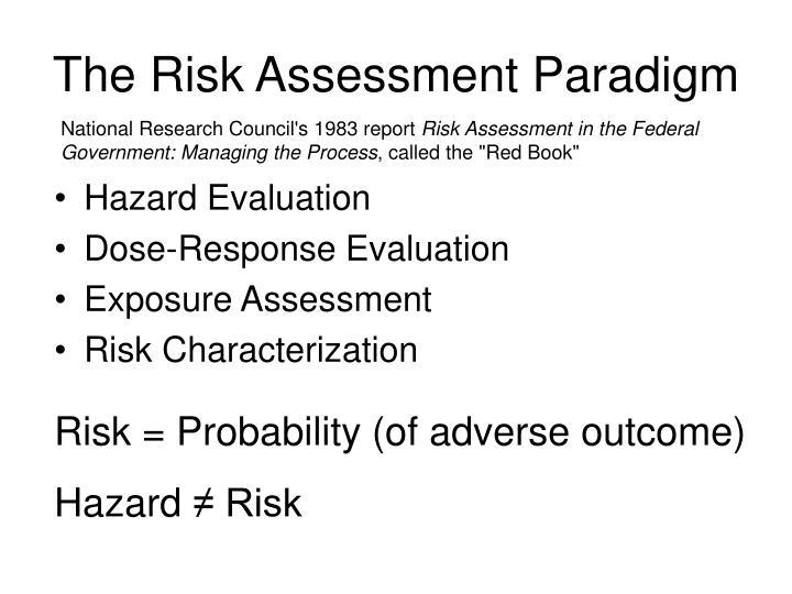 The risk assessment paradigm