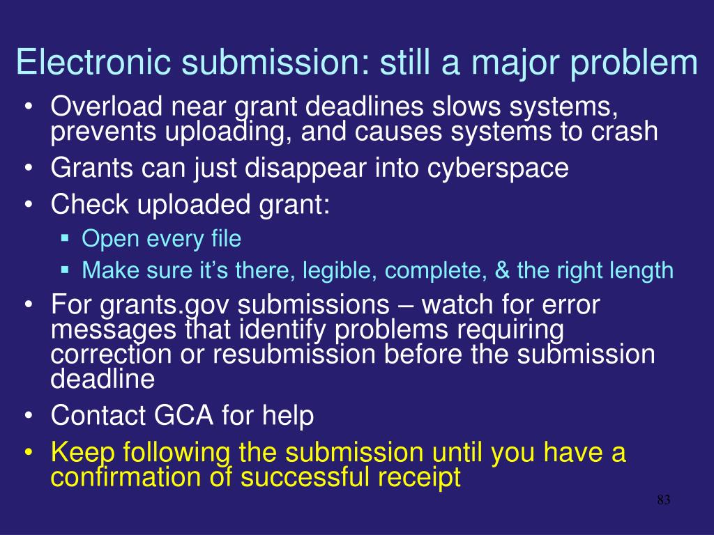 Electronic submission: still a major problem