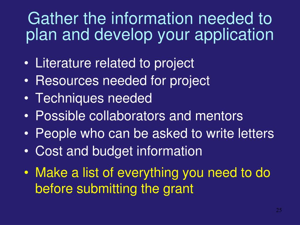Gather the information needed to plan and develop your application