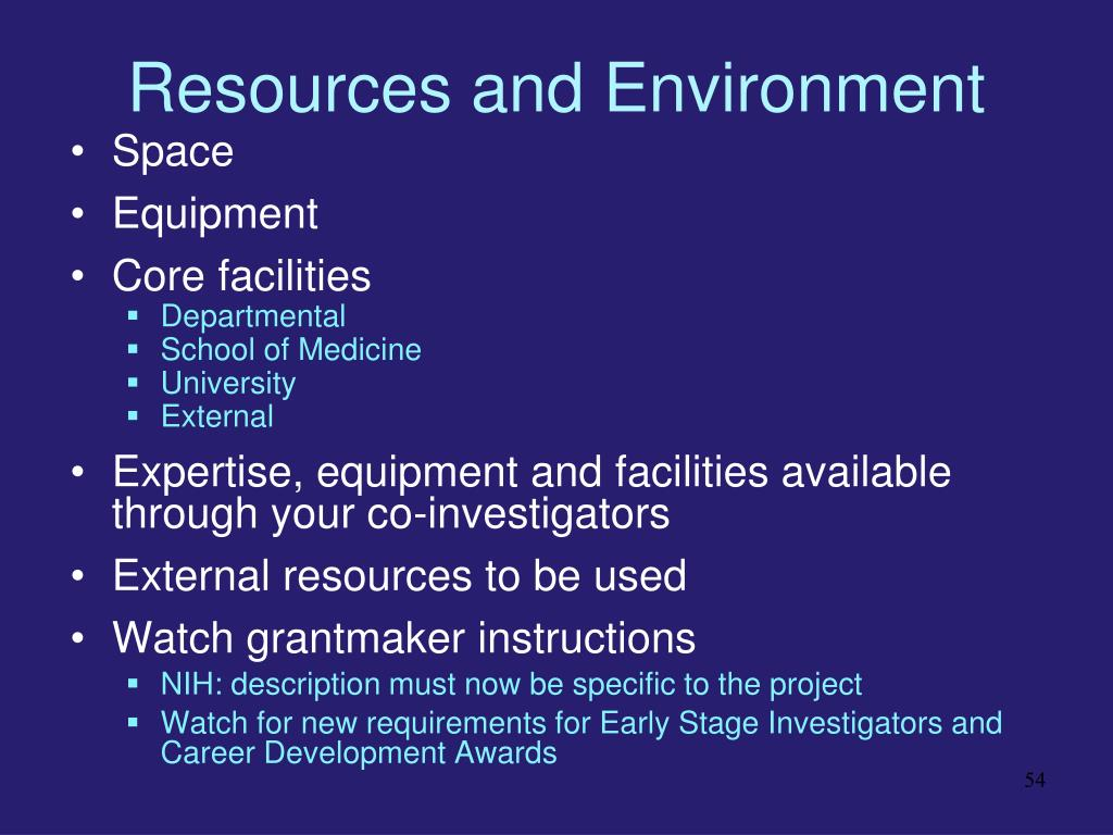 Resources and Environment