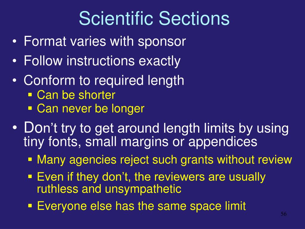Scientific Sections