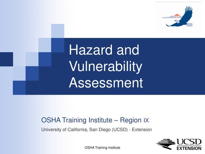hazard and vulnerability assessment n.