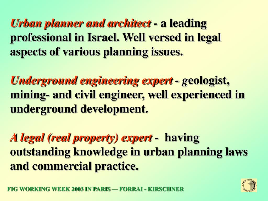 Urban planner and architect