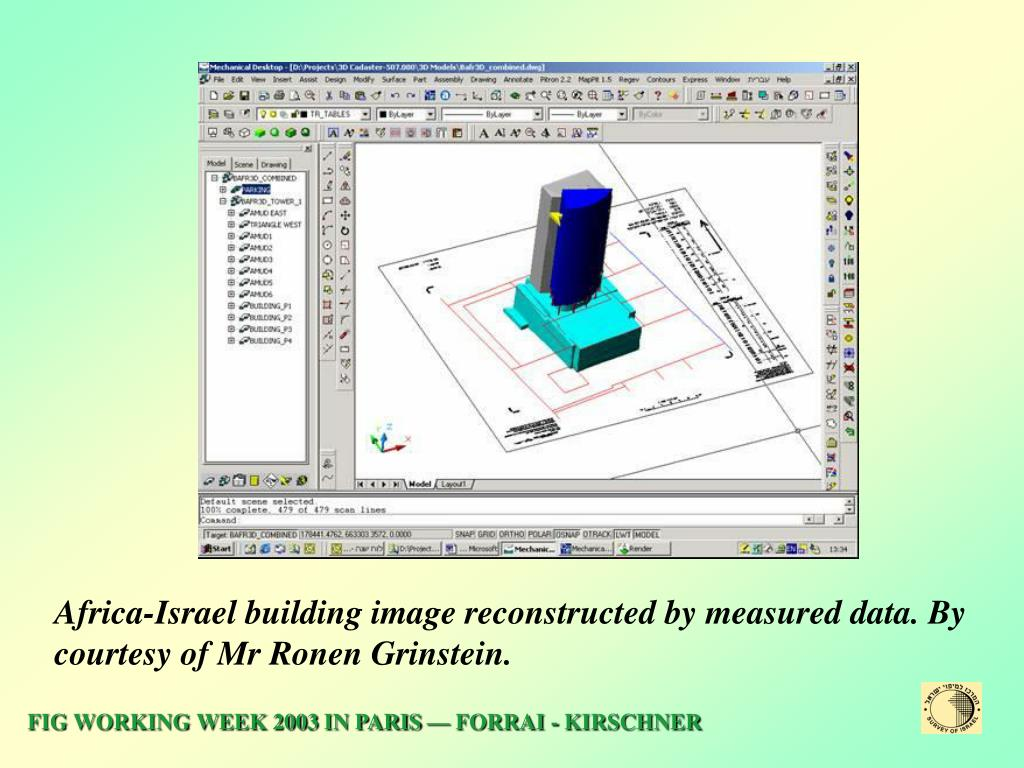 Africa-Israel building image reconstructed by measured data. By courtesy of Mr Ronen Grinstein.