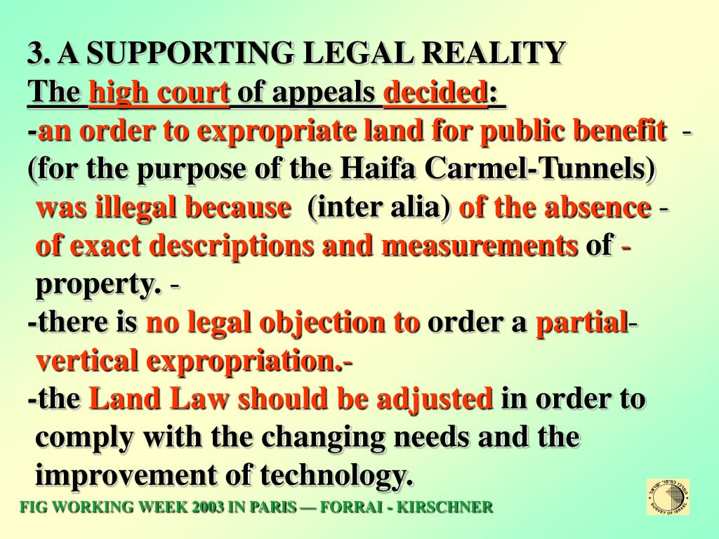 3. A SUPPORTING LEGAL REALITY