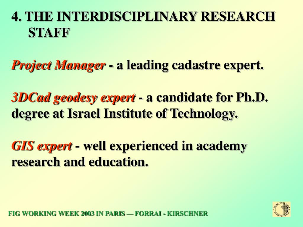 4. THE INTERDISCIPLINARY RESEARCH