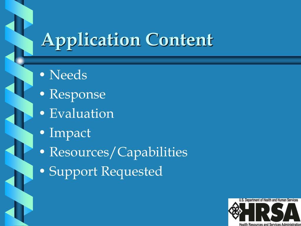 Application Content
