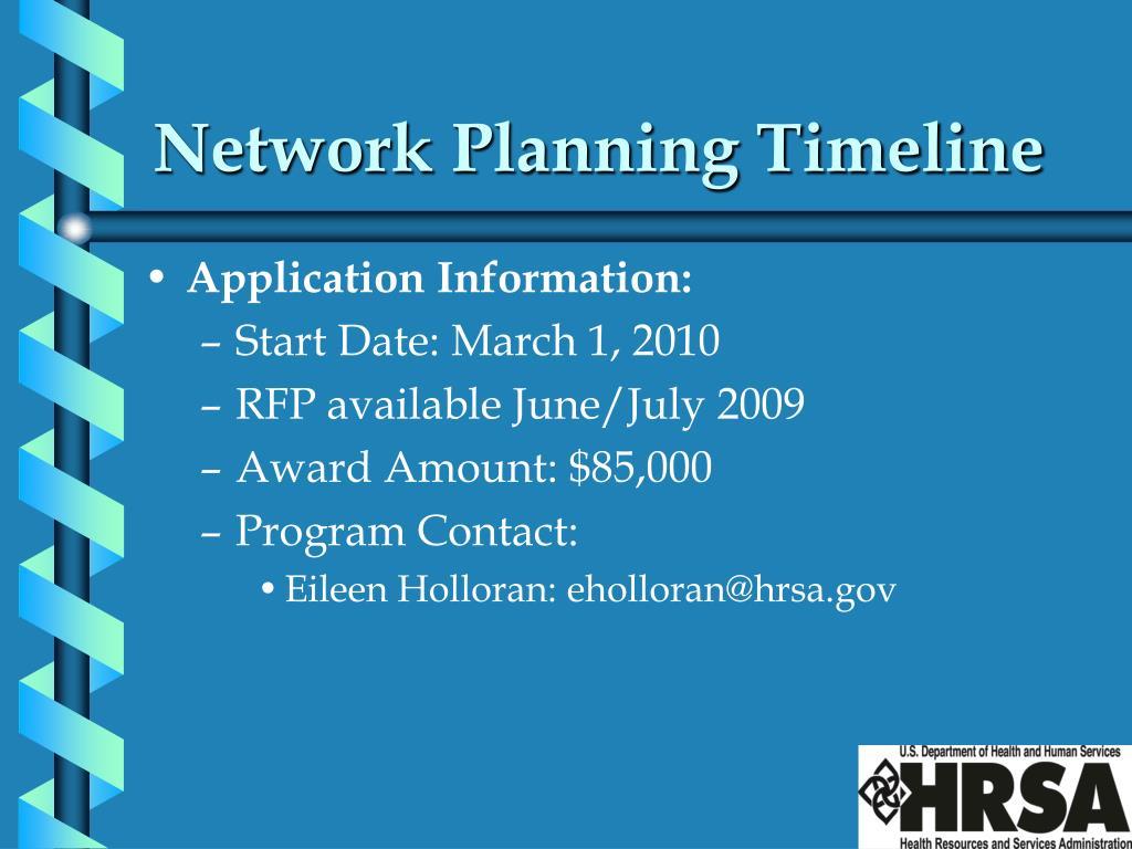 Network Planning Timeline