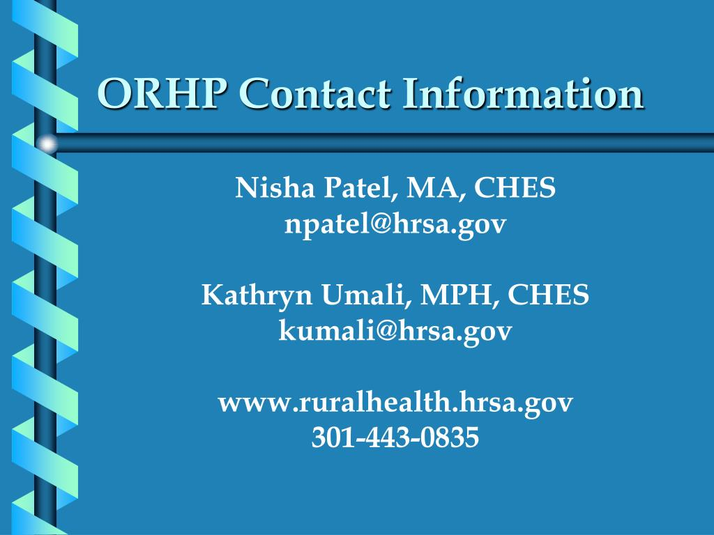 ORHP Contact Information
