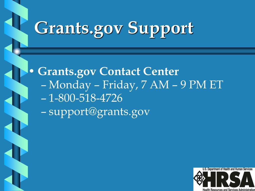 Grants.gov Support