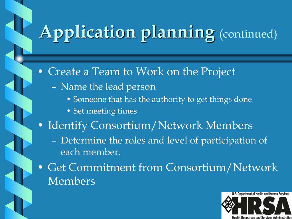 Application planning