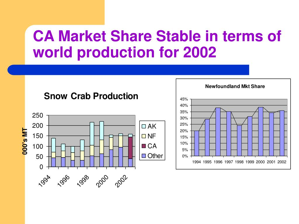 CA Market Share Stable in terms of world production for 2002