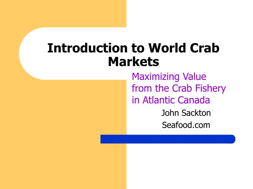 Introduction to World Crab Markets