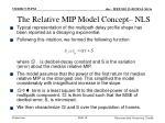 the relative mip model concept nls