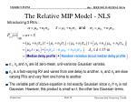 the relative mip model nls24