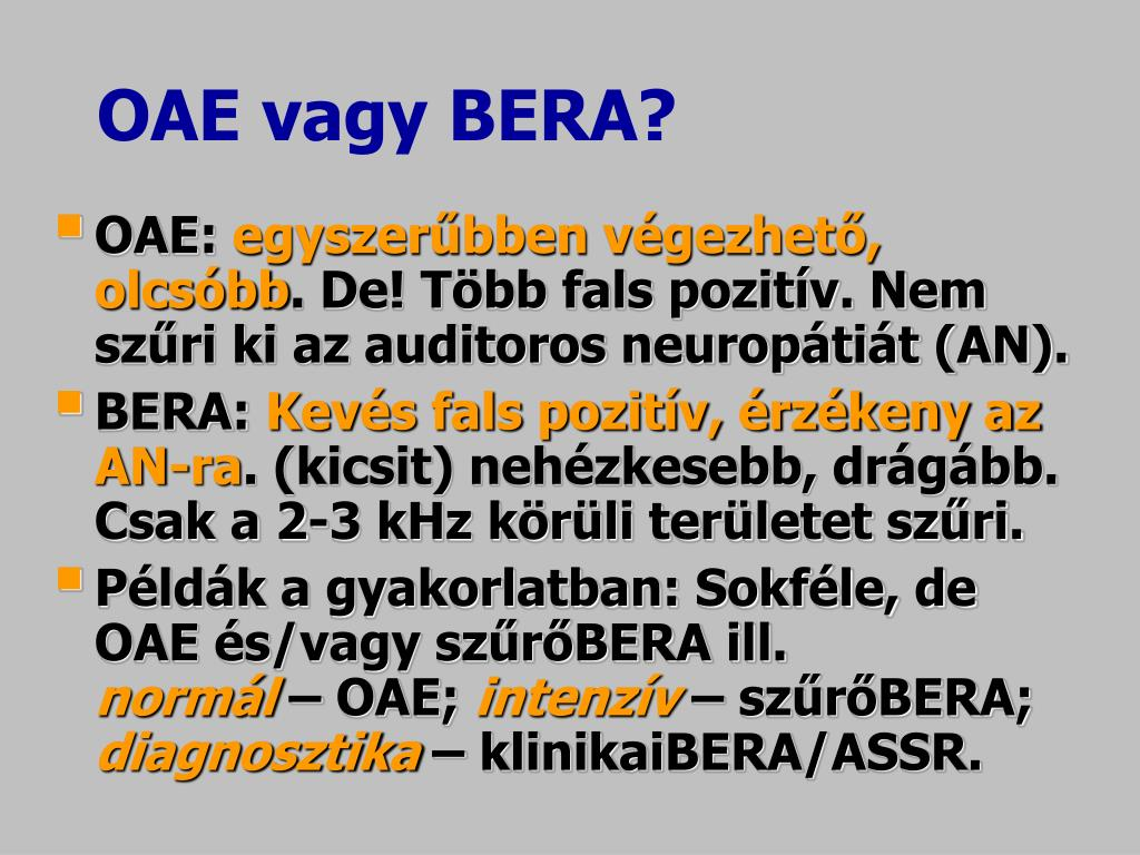 OAE vagy BERA?