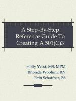 a step by step reference guide to creating a 501 c 3