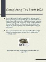completing tax form 1023