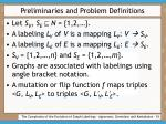 preliminaries and problem definitions