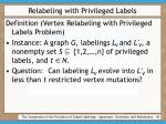 relabeling with privileged labels