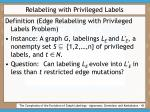 relabeling with privileged labels43
