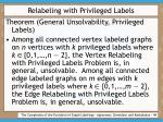 relabeling with privileged labels44