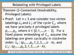 relabeling with privileged labels49