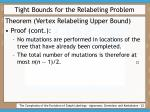 tight bounds for the relabeling problem22