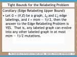tight bounds for the relabeling problem23